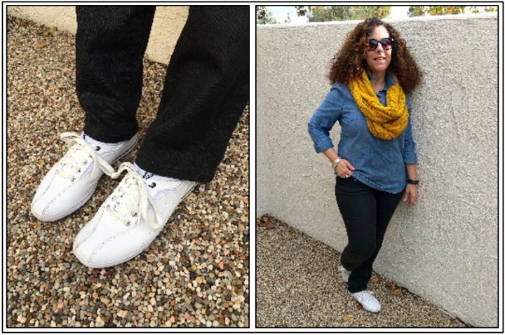 Day 20 - an inspired look; white sneakers