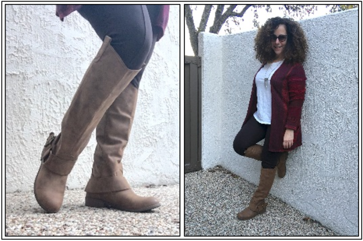 Day 25 - tall boots with leggings