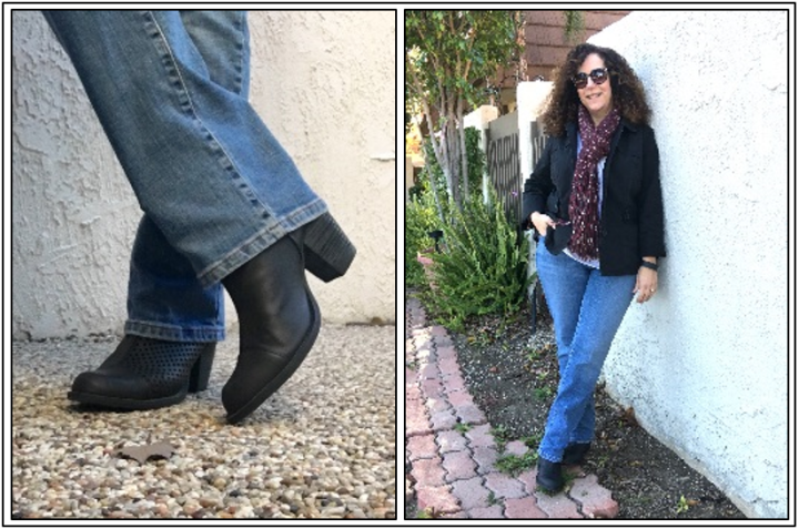 Day 26 - ankle boots with perforations