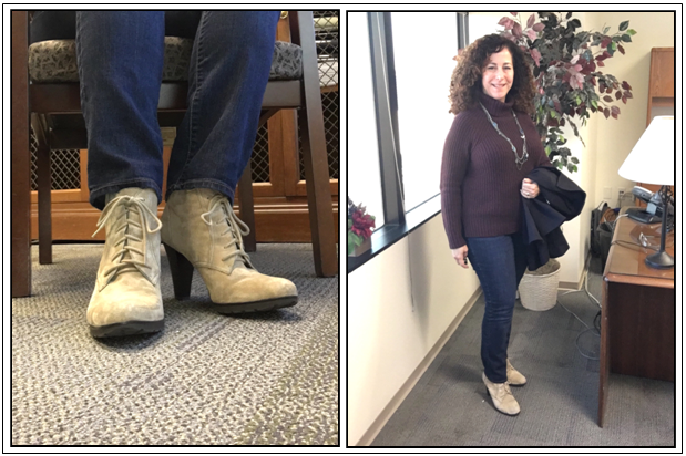 Day 30 - suede booties with lug sole